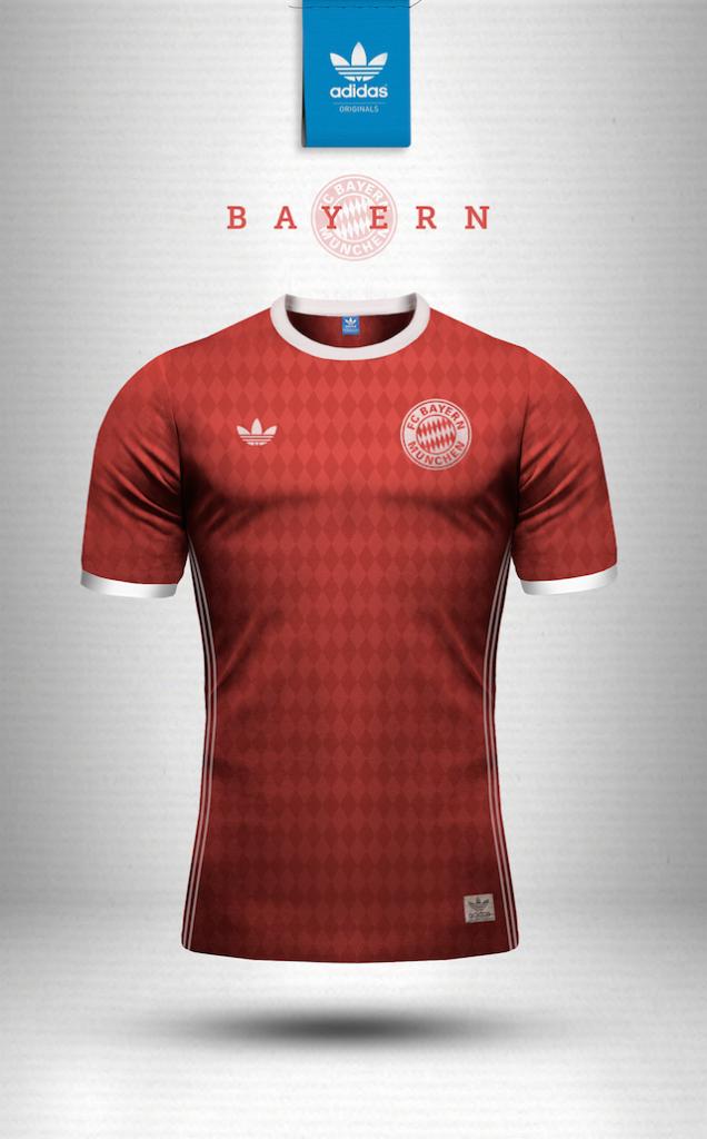 Maillot vintage Adidas Bayern Munich