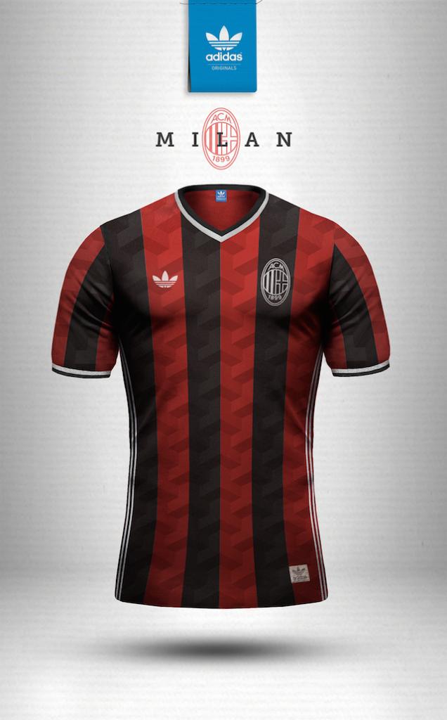 Maillot vintage Nike Milan AC