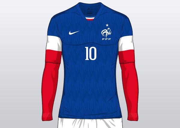 Concept maillot France domicile Euro 2016