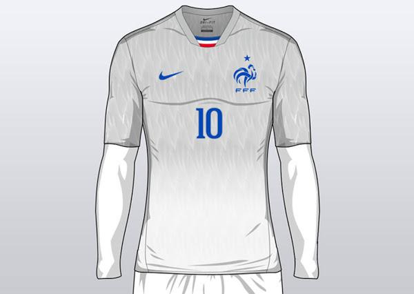 Concept maillot France extérieur Euro 2016