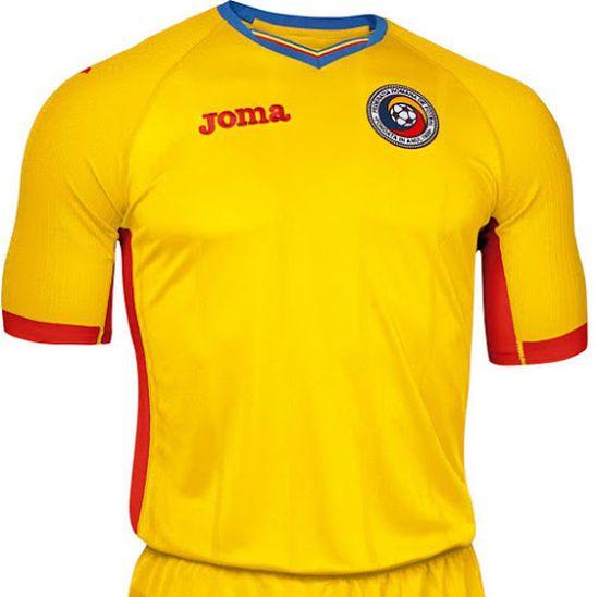 Nouveau maillot domicile Roumanie Euro 2016 Joma