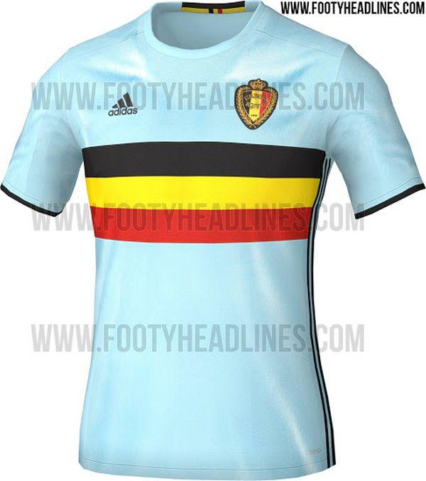 Maillot extérieur Belgique Euro 2016 Adidas