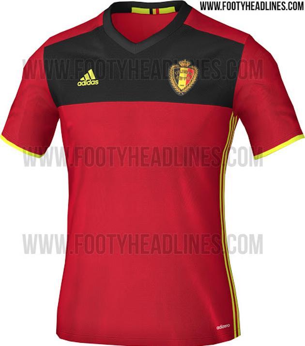 Maillot domicile Belgique Euro 2016 Adidas