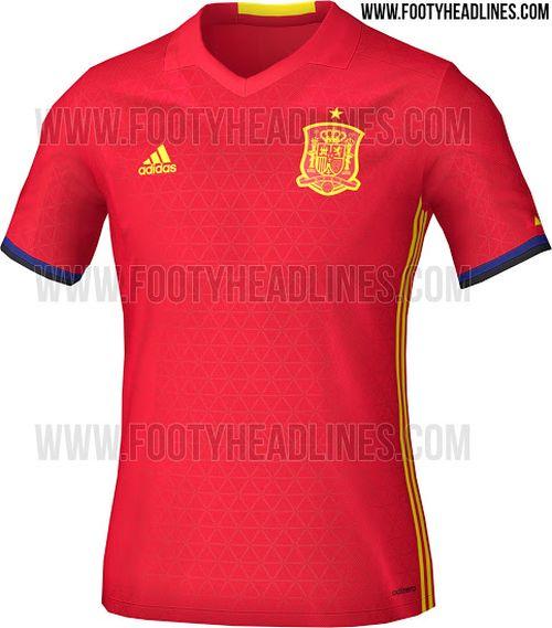 maillot domicile ESPAGNE Euro 2016 Adidas
