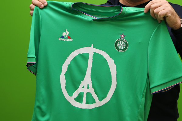 Maillot ASSE hommage Je suis Paris