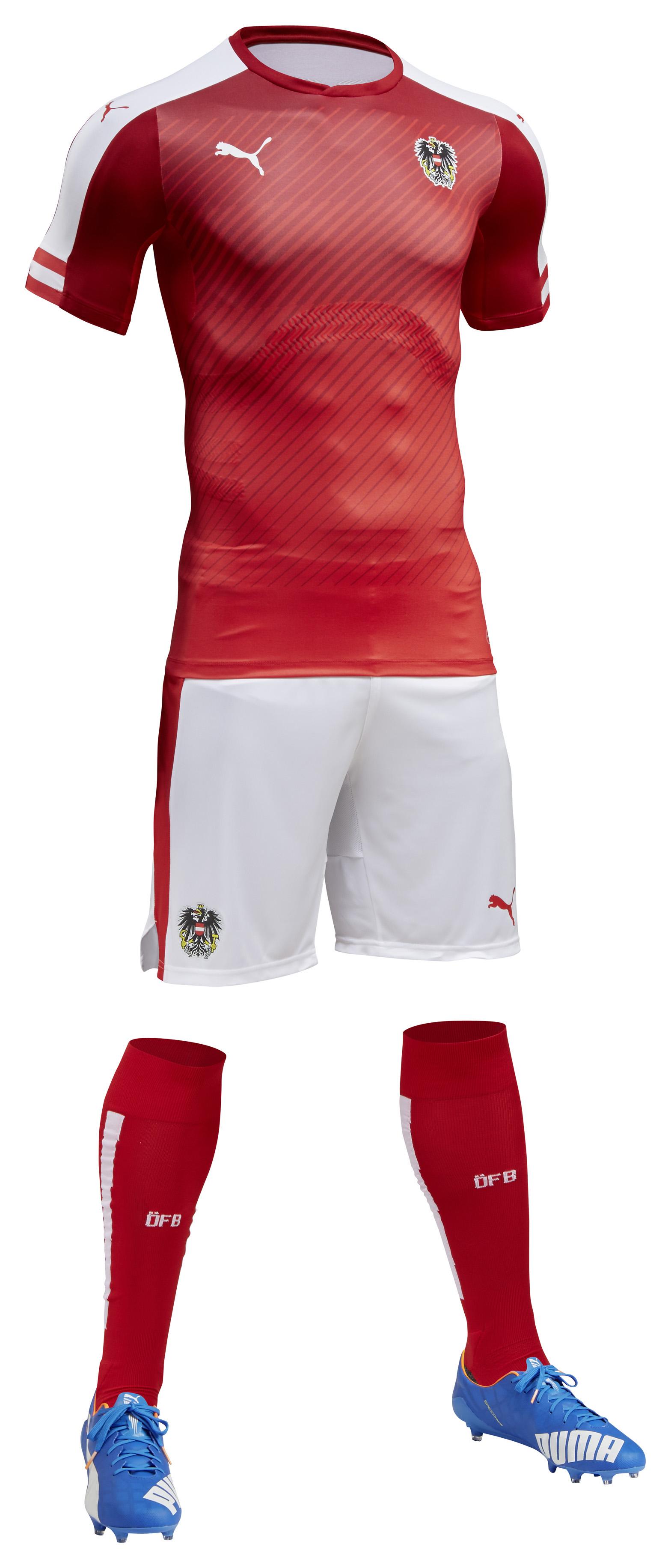 Kit domicile Autriche Euro 2016