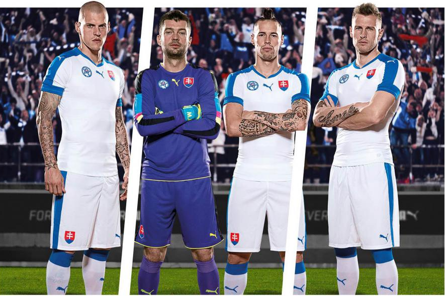Maillot domicile Slovaquie Euro 2016