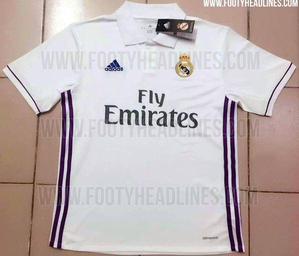 Le nouveau maillot 2016-17 Adidas du Real Madrid