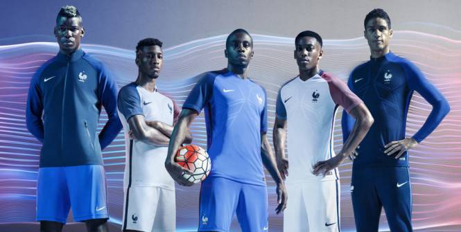 Les maillots de l'Equipe de France pour l'Euro