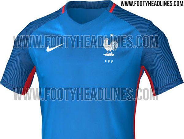 maillot domicile France Nike Euro 2016