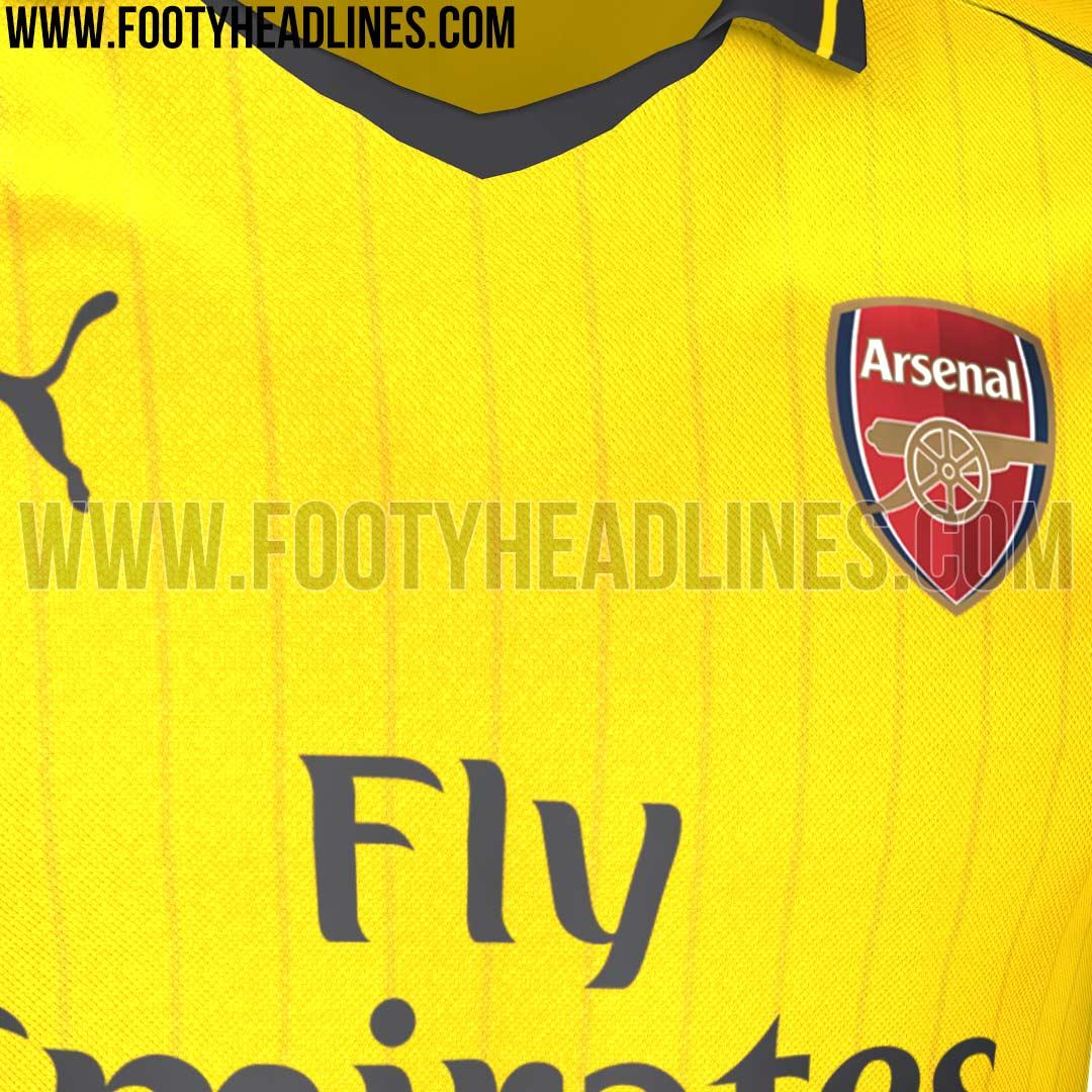 Le maillot extérieur d'Arsenal 2016-17 Puma