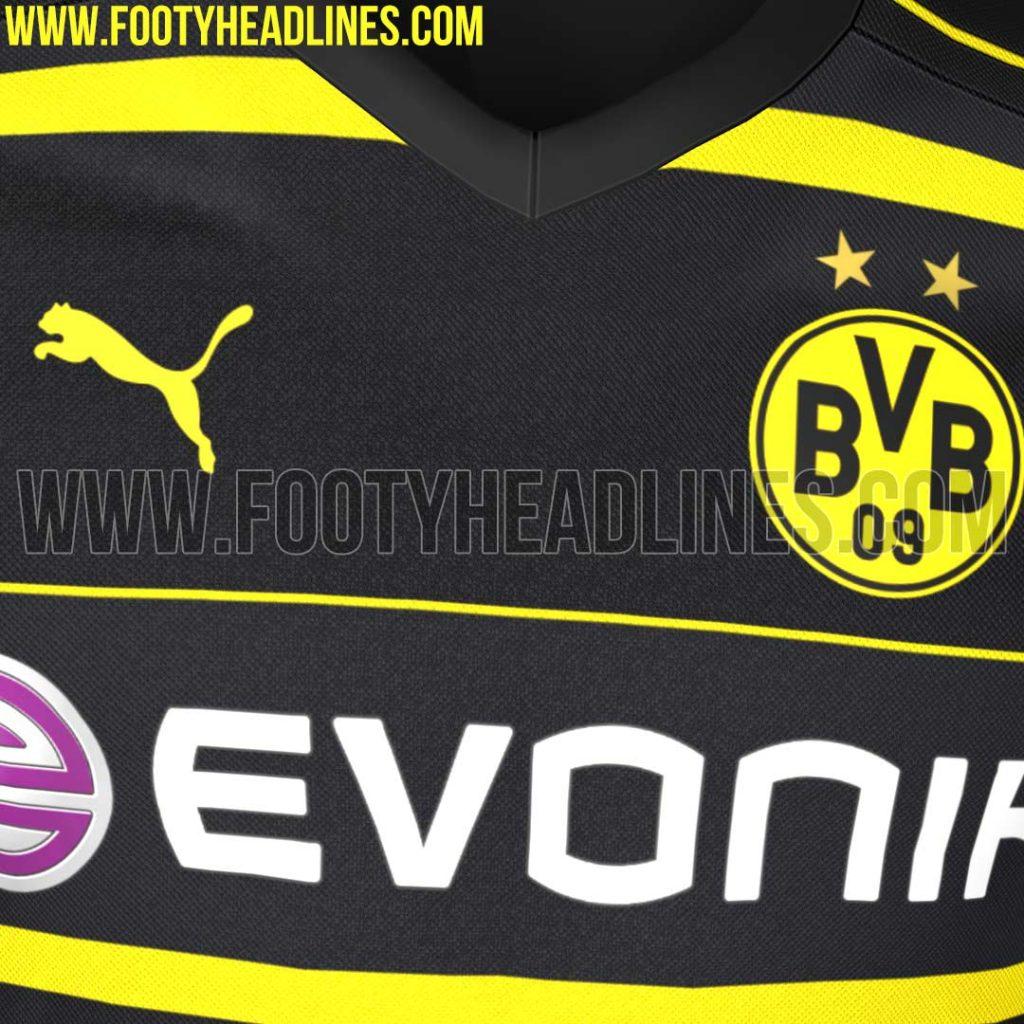 Le maillot extérieur du Borussia Dortmund 2016-17 Puma