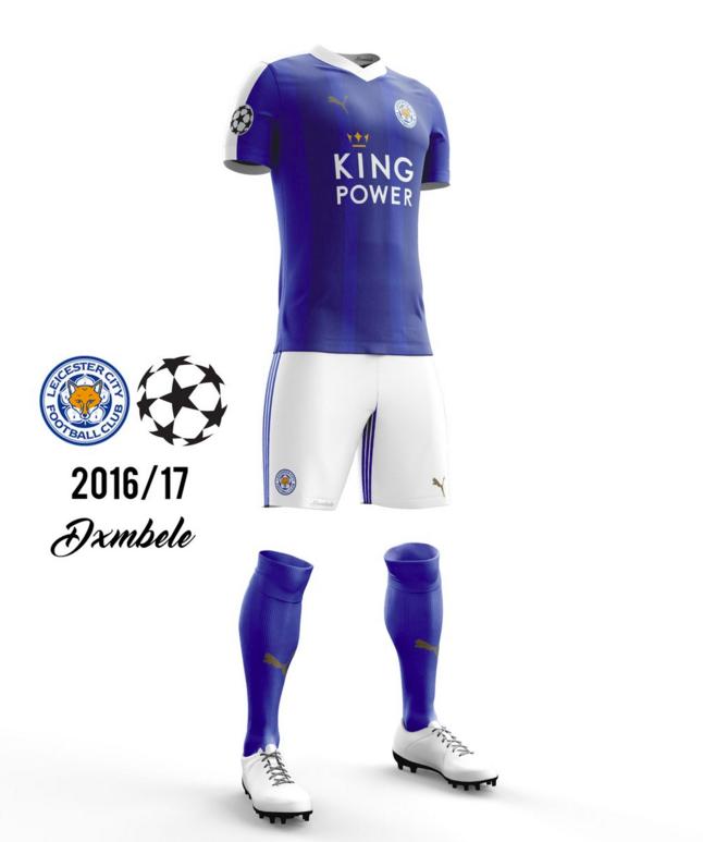 Concept kit Ligue des Champions Leicester 2016-17