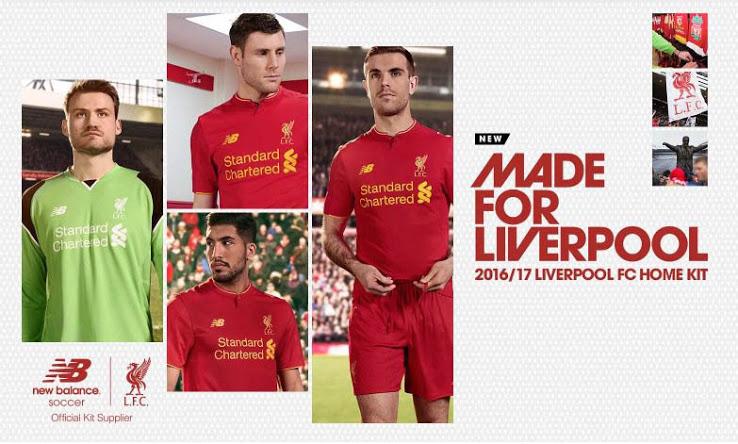 Le nouveau maillot New Balance de Liverpool 2016-17