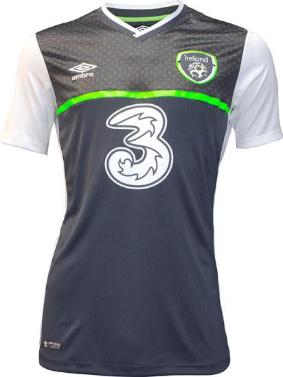 Maillot Irlande extérieur Euro 2016 Umbro