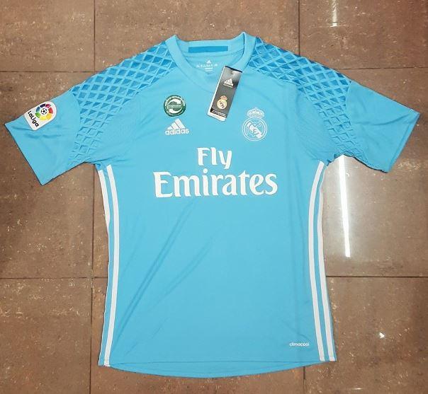 Le nouveau maillot du gardien 2016-17 Adidas du Real Madrid