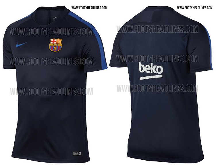 Maillot entrainement fc barcelone2017