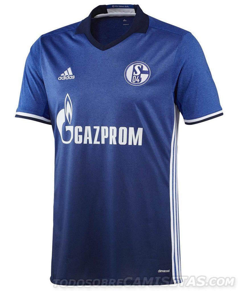Maillot domicile Schalke 2016-17 Adidas