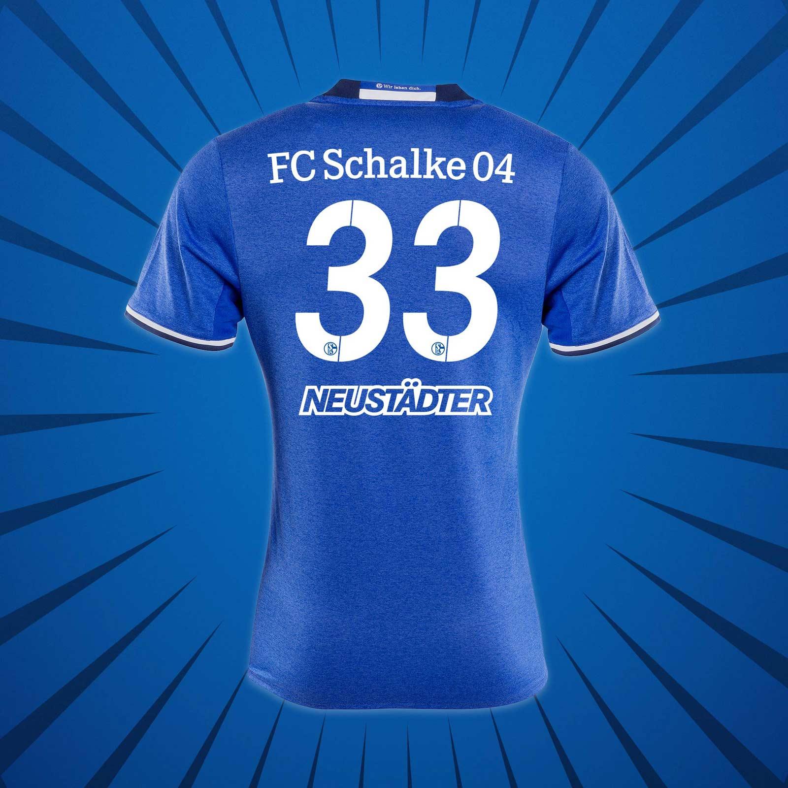 Flocage maillot domicile Schalke 2016-17 Adidas