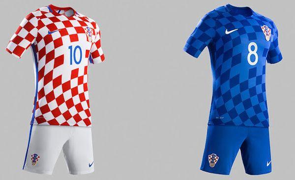 Maillot Euro 2016 Croatie domicile et extérieur