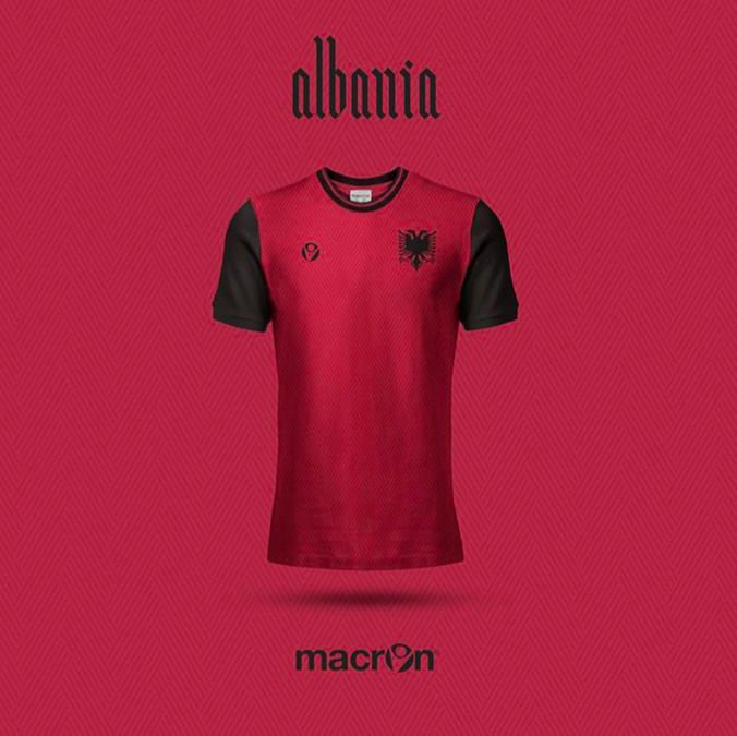 Maillot Albanie version Emilio Sansolini
