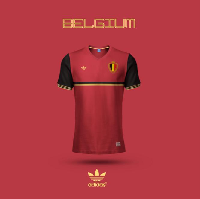 Maillot Belgique version Emilio Sansolini