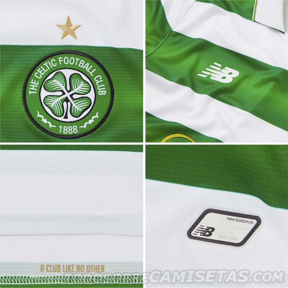 Détails du maillot domicile du Celtic 2016-17 New Balance