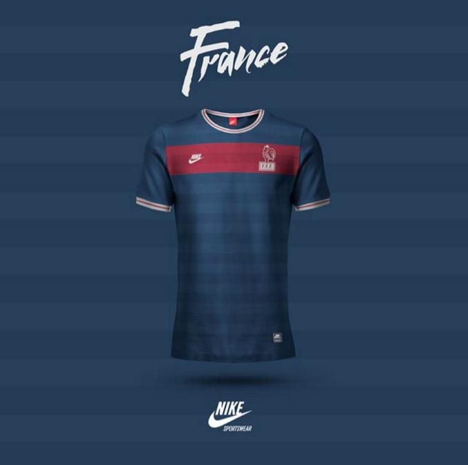 Maillot de l'équipe de France revisité