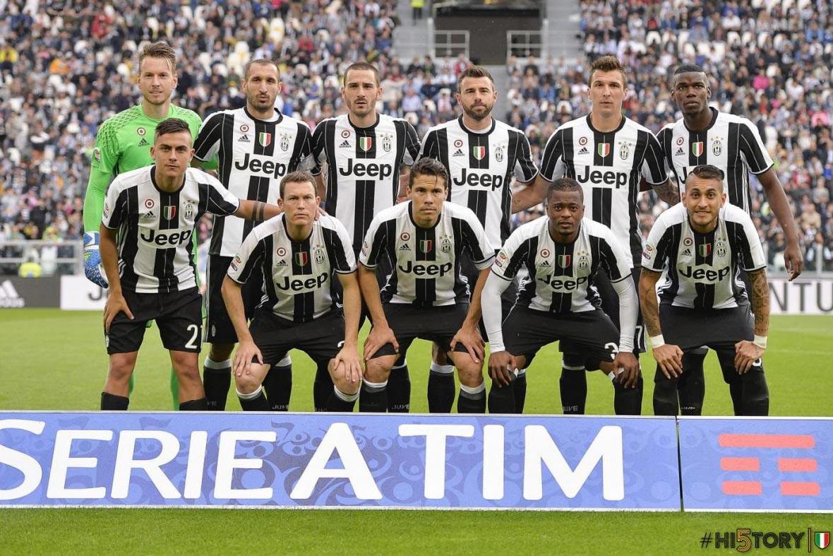 La Juventus avec son maillot domicile 2016-17