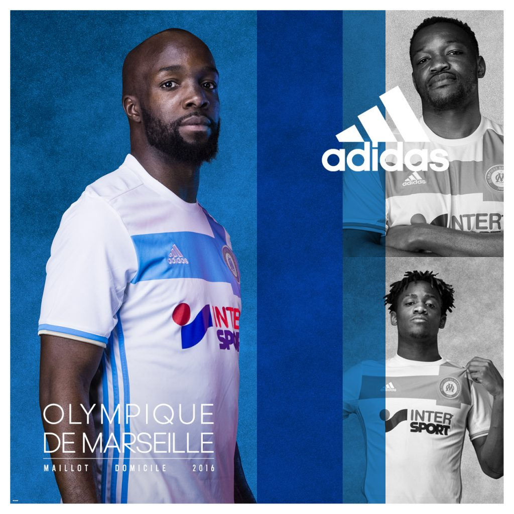 Maillot domicile OM 2016-17 Adidas
