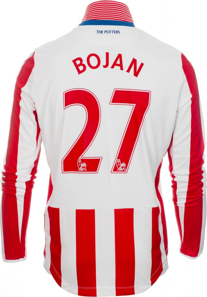 Flocage maillot domicile Stoke City 2016-17