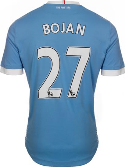 Flocage maillot extérieur Stoke City 2016-17