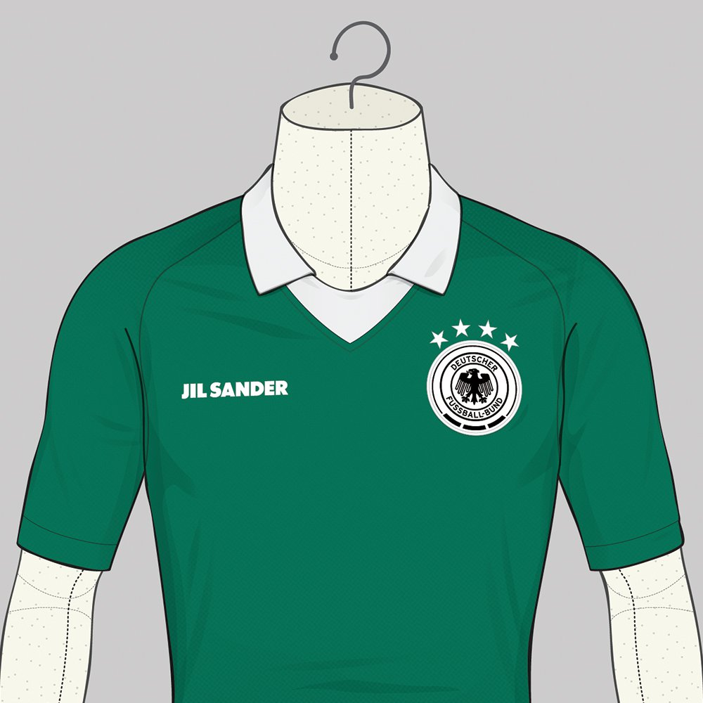 Le maillot de l'Allemagne version Jil Sander