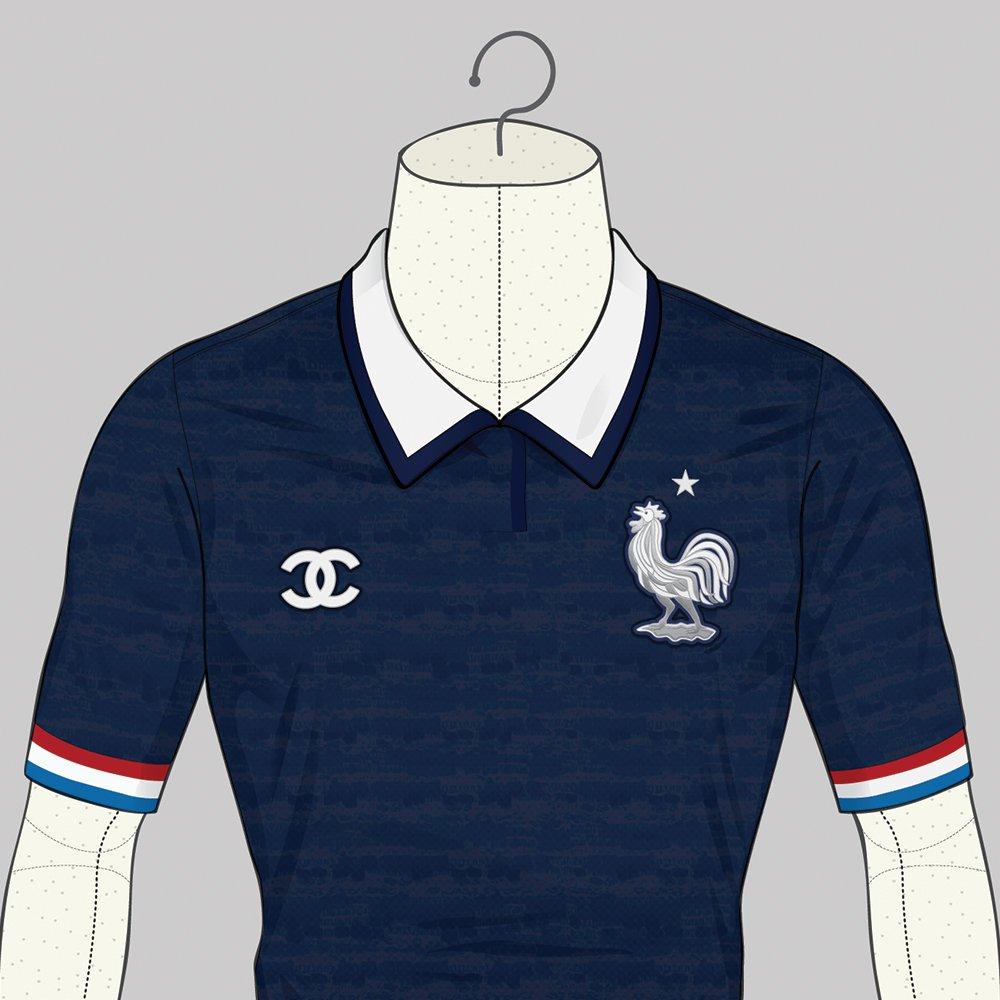 Le maillot de la France version Chanel