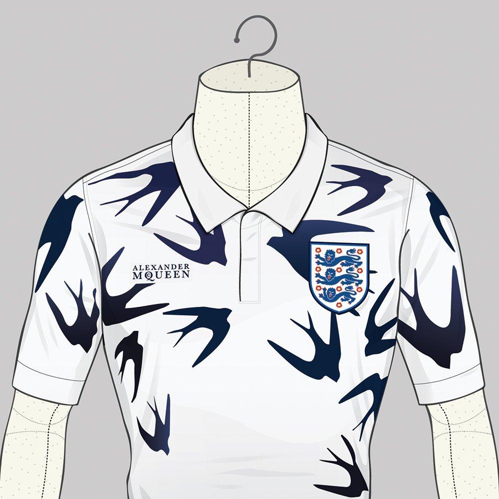 Le maillot de l'Angleterre version Alexander McQueen