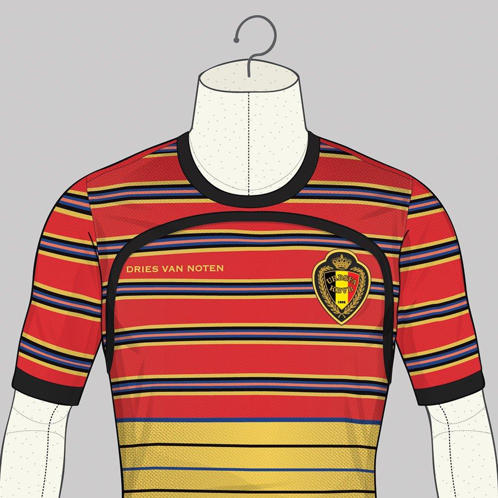 Le maillot de la Belgique version Dries Van Noten