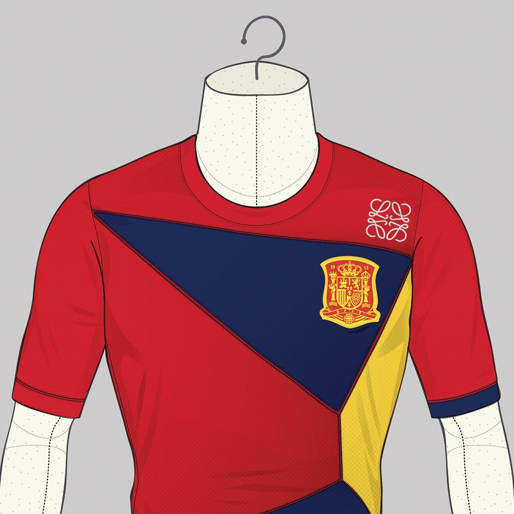 Le maillot de l'Espagne version Loewe