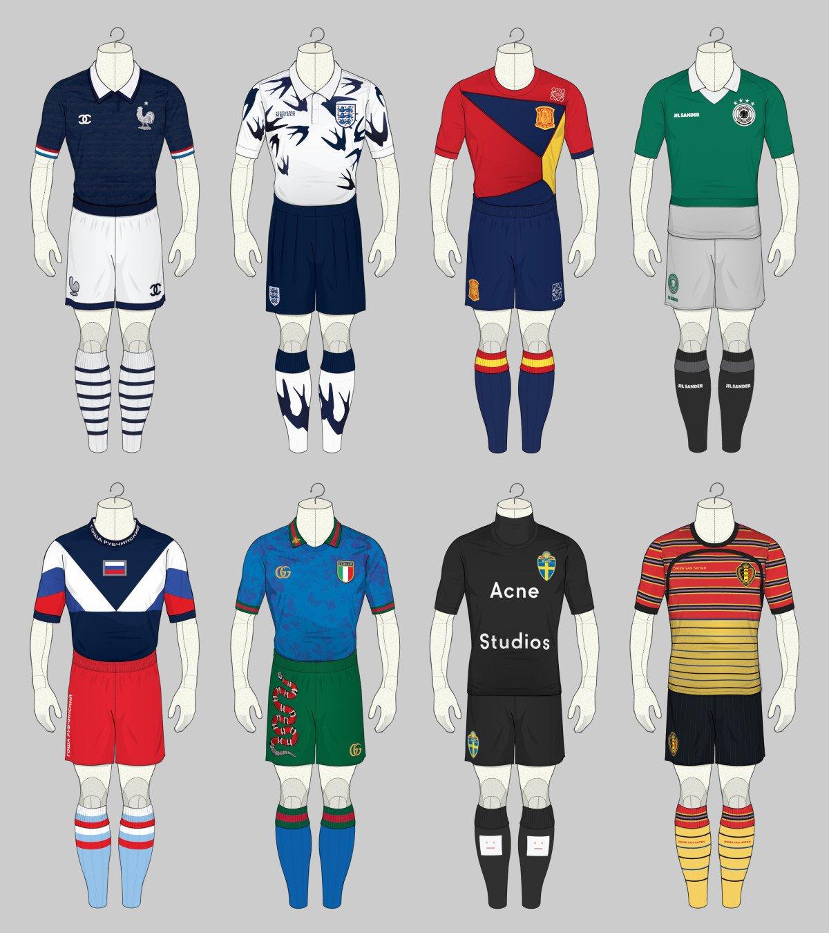 Les maillots de l'Euro en mode fashion