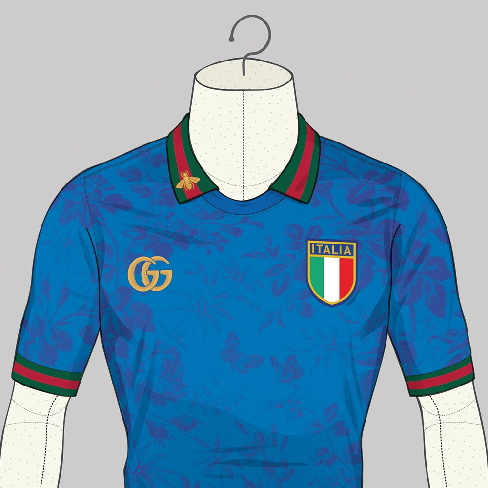 Le maillot de l'Italie version Gucci