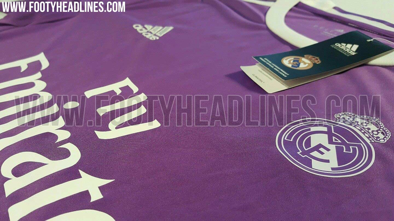 Maillot extérieur du Real Madrid 2016-17 Adidas