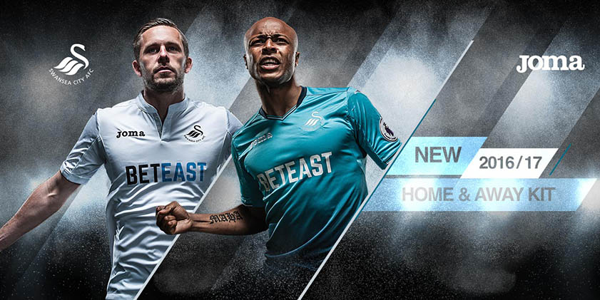 Les nouveaux maillot de Swansea Joma