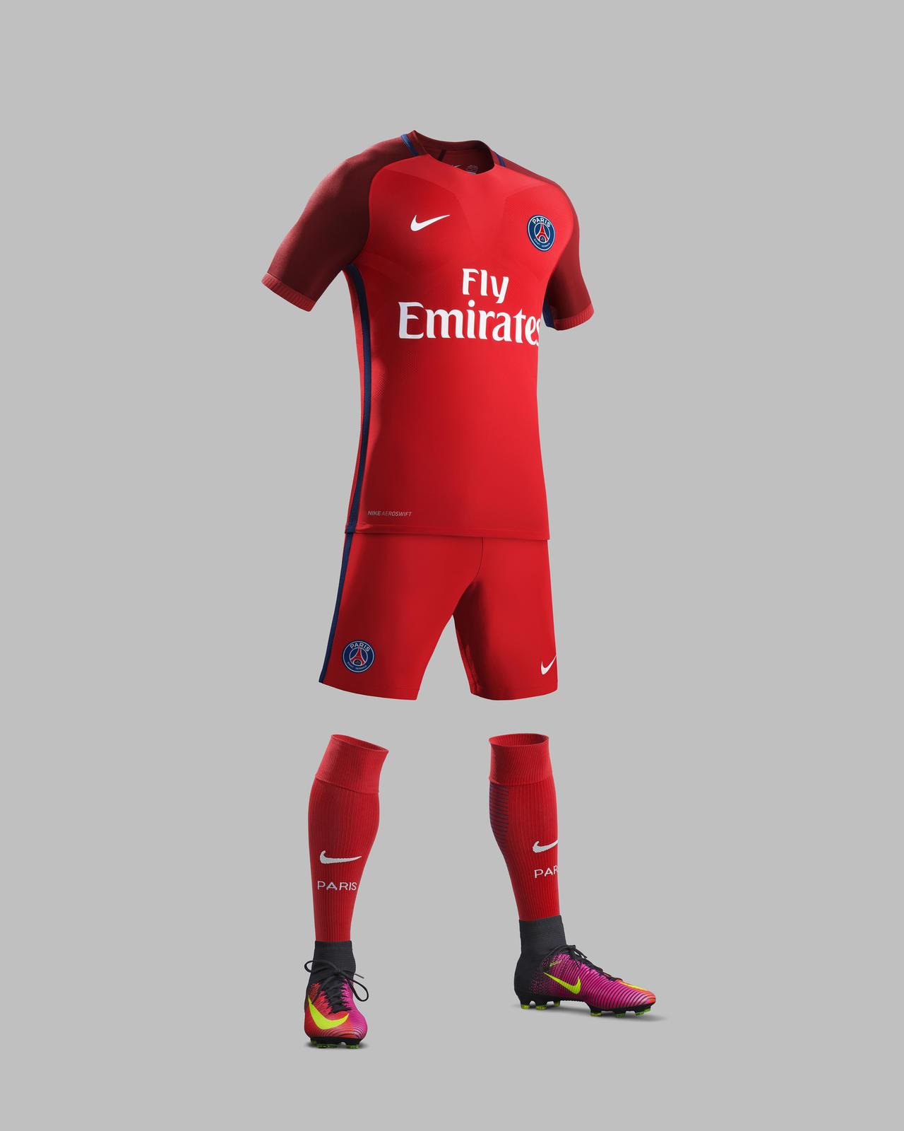 Nouvelle tenue extérieure PSG 2016 - 2017 Nike