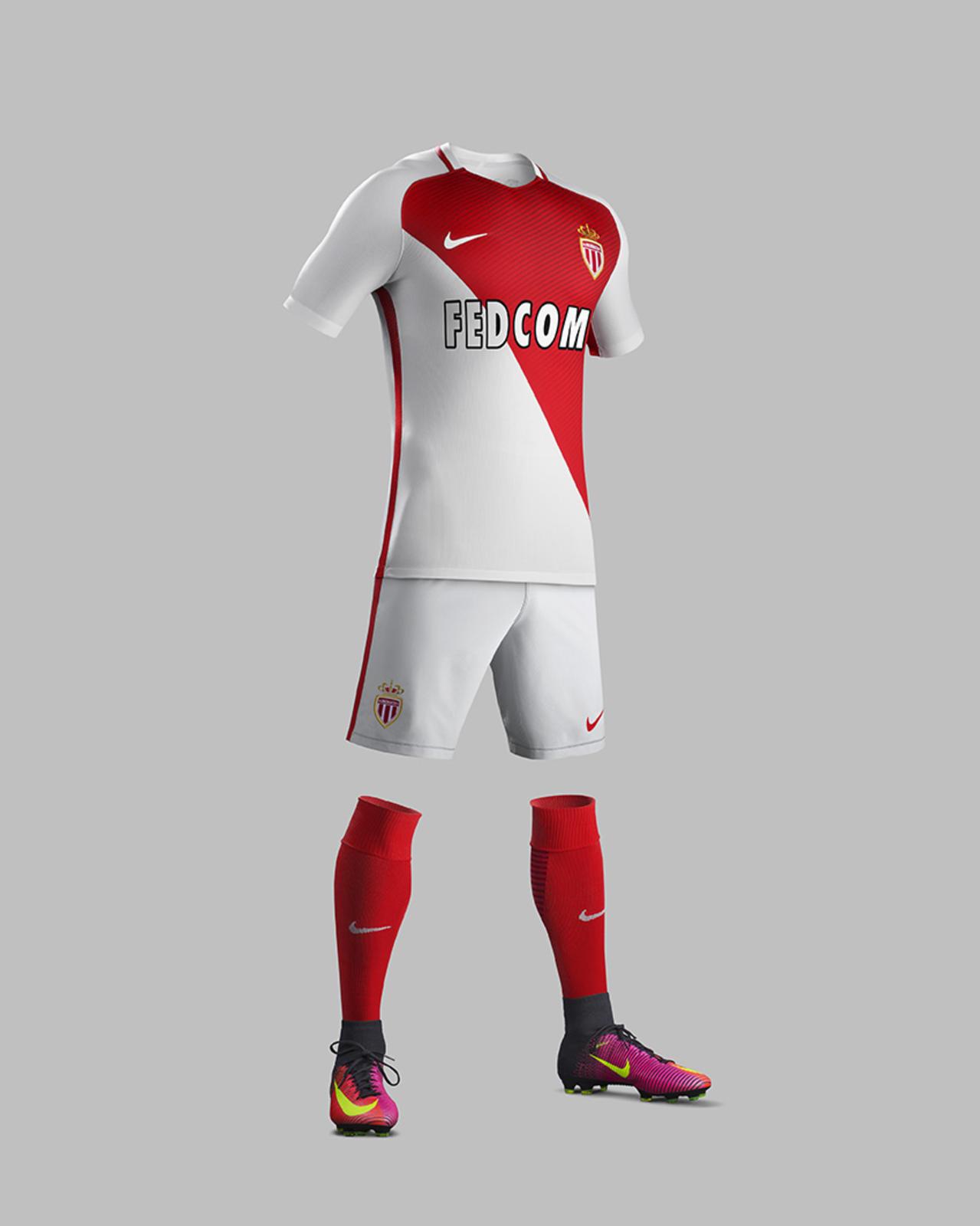 Tenue domicile AS Monaco 2016 - 2017 Nike