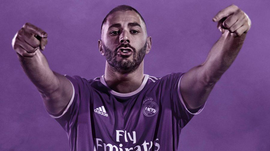 Maillot extérieur du Real Madrid présenté par Benzema