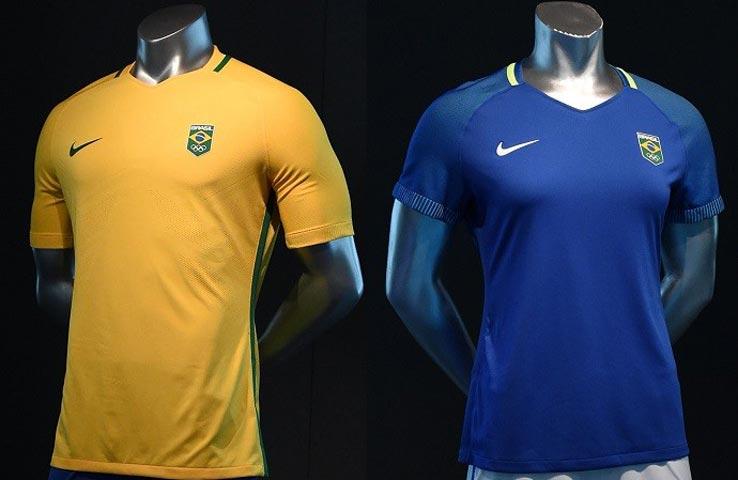 Les deux maillots des Brésiliens pour les JO