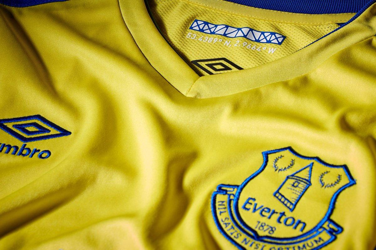 Du jaune pour le nouveau maillot third d'Everton