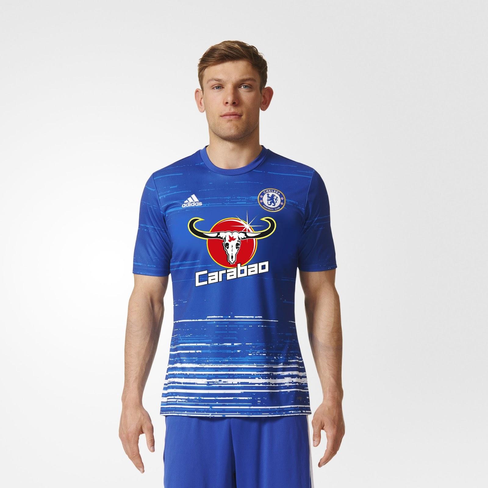 Le maillot pré-match des Blues