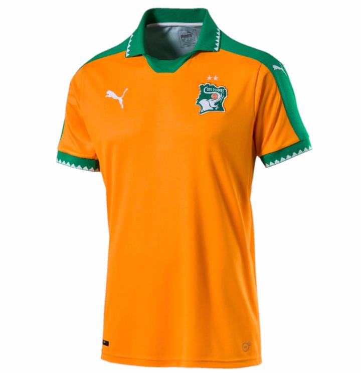 Le nouveau maillot de la Côte d'Ivoire signé Puma