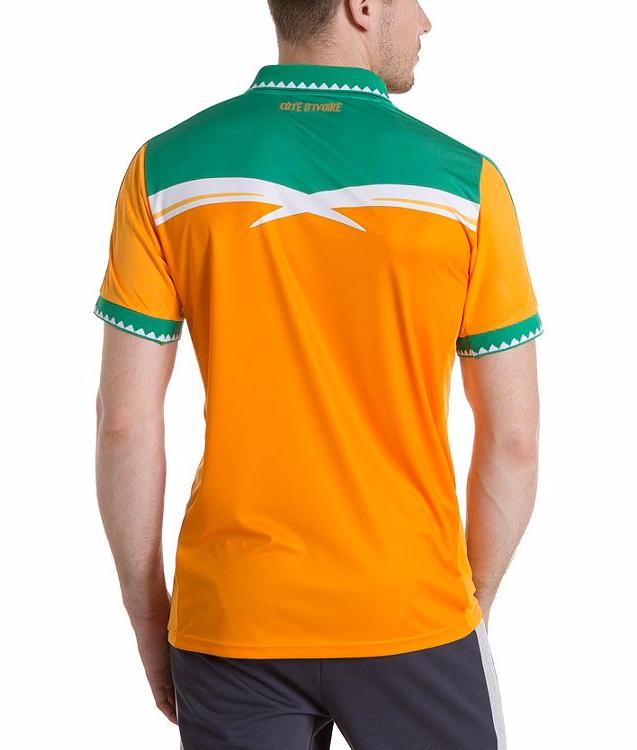 Le nouveau maillot de la Côte d'Ivoire