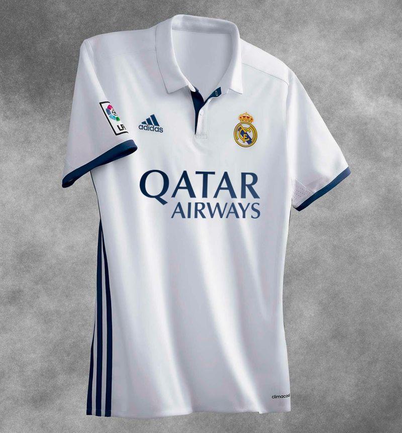 Maillot Real Madrid avec sponsor maillot principal Qatar Airways